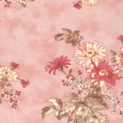 Moda Lario - 2531 - Large Floral Print on Pink Background - 100% Cotton Fabric